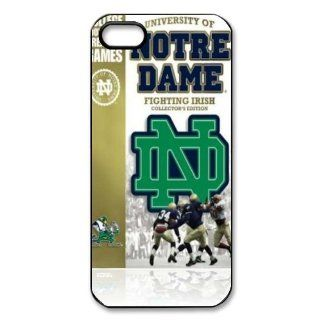Customize Notre Dame Fighting Irish Hard Case for Apple IPhone 5/5S Cell Phones & Accessories