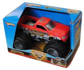 "Hot Wheels Monster Jam 124 Scale Die Cast Official Monster Truck 2008 Series   Dan Evans The DESTROYER with Monster Tires,Working Suspension and 4 Wheel Steering (Dimension  7"" L x 5 1/2"" W x 4 1/2"" H) Toys & Games"