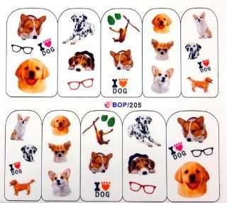 Egoodforyou BLE Nail Art Water Slide Nail Tattoo Water Transfer Decal Sticker (Oil Portray Puppy dogs) with one Packaged Egood Nail Decal Sticker  Beauty