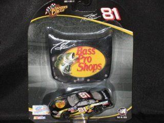 2004 Winners Circle 1/64 Scale Diecast #81 Tony Stewart Bass Pro Shops & Bonus Magnet Hood Toys & Games