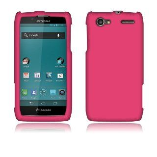 Motorola Electrify 2 XT881 Hot Pink Rubberized Cover Cell Phones & Accessories