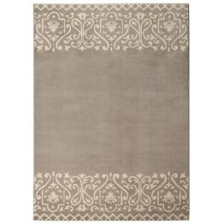Threshold Scroll Border Area Rug   Gray (7x10)
