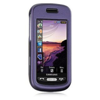 Purple Rubberized Hard Case for Samsung Solstice SGH A887 AT&T Cell Phones & Accessories