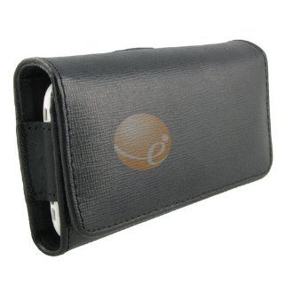 Black Horizontal Pouch Leather Carrying Case with Belt Clip for Apple iPhone 3G, iPhone, BlackBerry 9500 Storm, LG CT810 Incite, CU915 Vu, KE850 Parda, Samsung M8800 Pixon, SCH i910 Omnia CDMA, SGH A867 Eternity, SGH T919 Behold Cell Phones & Accessor