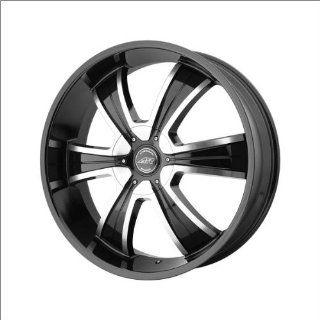 "American Racing Ar894 Gloss Black Wmachine 24x9"" Gloss Black w/Machine   38 offset Automotive"