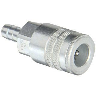 "Dixon Valve DC2644 Steel Air Chief Industrial Interchange Quick Connect Air Hose Socket, 3/8"" Coupler x 3/8"" Hose ID Barbed, 70 CFM Flow Rating Quick Connect Hose Fittings"