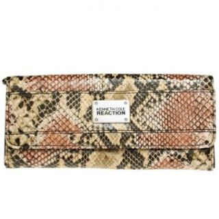 KENNETH COLE REACTION Python Print Clutch Wallet W/ Coin Purse [111853/872], NTRL