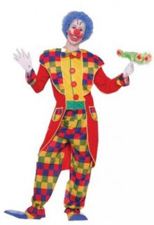 Forum Circus Sensations Clown Tuxedo Costume, Red/Yellow, Standard Clothing