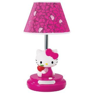 NEW Girls' Kids Bedroom Hello Kitty Design Pink Lampshade Uni Mount Light Lamp