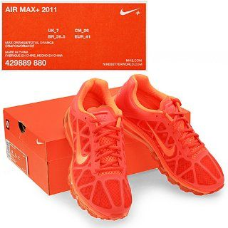 Nike Men's NIKE AIR MAX+ 2011 RUNNING SHOES 9.5 (MAX ORANGE/TOTAL ORANGE) Shoes
