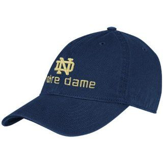 adidas Notre Dame Fighting Irish Navy Blue School Logo Adjustable Slouch Hat  Football Apparel  Sports & Outdoors