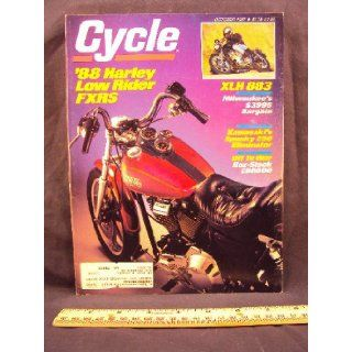 1987 87 October CYCLE Magazine (Features Road Test on Harley Davidson 883 Sportster, Harley Davidson FXRS Low Rider, & Kawasaki EL250 Eliminator) Cycle Books
