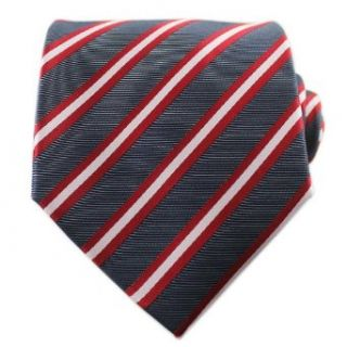 Black & Red Striped Tie Set / Formal Business Neckties at  Men�s Clothing store