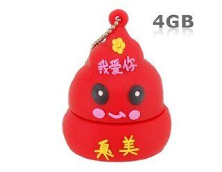 4 GB Creative Poop Design USB Flash Drive (Red) Electronics