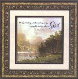Sierra Nevada Psalm 627 Framed Wall Art (20 Inches Wide X 20 Inches High)   Decorative Plaques