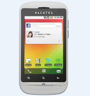 Alcatel One Touch 918S Mix Unlocked GSM Phone (White) Cell Phones & Accessories