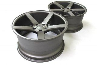 "19"" MKS 550 5x112 Gunmetal Staggered Concave Wheels Mercedes Benz E500 set of 4 Automotive"
