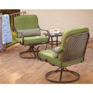 PATIO FURNITURE OUTDOOR LAWN & GARDEN HAMPTON BAY FALL RIVER WITH MOSS CUSHIONS 3 PC  Outdoor And Patio Furniture Sets  Patio, Lawn & Garden
