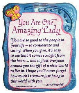 Blue Mountain Arts You Are One Amazing Lady by Lorrie Westfall Sculpted Resin Magnet (MR921)