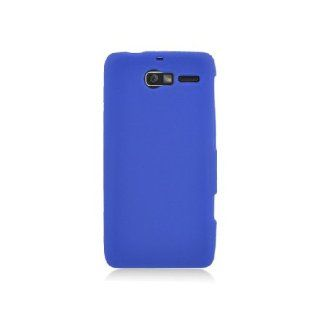Motorola Droid RAZR M XT907 Blue Soft Silicone Gel Skin Cover Case Cell Phones & Accessories