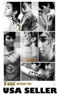 U Kiss tattoos Without You POSTER 23.5 x 34 OOP Korean Kpop boy band UKiss U Kiss (sent FROM USA in PVC pipe)  Prints