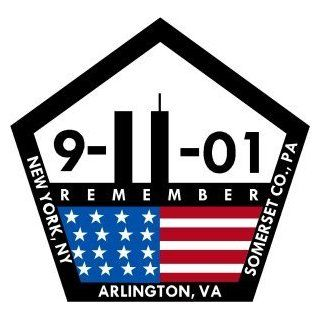 "Firefighter Decals/Stickers   911 Pentagon Memorial Decal in 4"" Tall size / 911 decals, 911 stickers"