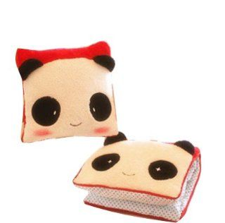 Cute Panda Hand Pillow Square Pillow Cartoon Panda Couple Pillow/blanket/car Cushion/quilt Various use(red)   Throw Pillows