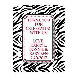 Boys Zebra Print Baby Shower Party Favor Labels  All Purpose Labels