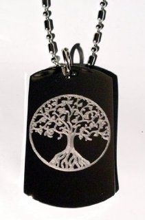 Celtic Tree of Life Irish Logo Symbols   Military Dog Tag Luggage Tag Key Chain Metal Chain Necklace