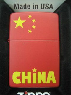 Zippo Chinese Flag Red Matte Finish Sports & Outdoors