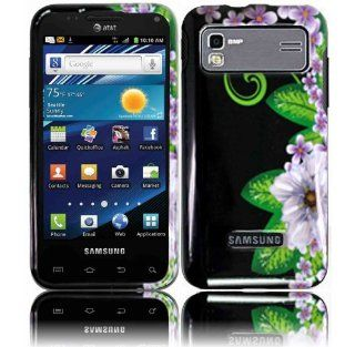 Green Flower Hard Case Cover for Samsung Captivate Glide i927 Cell Phones & Accessories