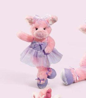 "Priscilla Ballerina Pig 9"" Stuffed Animal Plush Pink Pig Toys & Games"