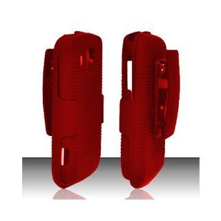 Red Heavy Duty Holster Cover Case for Samsung Transform Ultra SPH M930 Cell Phones & Accessories
