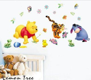 Winnie the Pooh Tigger Collection Peel & Stick Game Removable Vinyl Mural Art Children's Nursery Wall Stickers Easy Wall Decal Sticker   Baby Nursery Decor Gift Sets