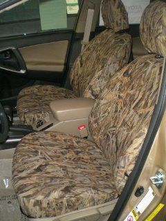 Exact Seat Covers, T954 SA C, 2009 2011 Toyota Rav4 Base Model Front Bucket Seats, Savanna Camo Endura Automotive