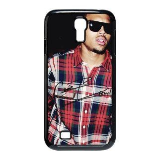 Custom Chris Brown Cover Case for Samsung Galaxy S4 I9500 S4 932 Cell Phones & Accessories