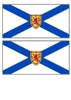 2 Nova Scotia Canada Flag Stickers Decal Bumper Window Laptop Phone Auto Boat Wall   Other Products