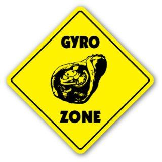 GYRO ZONE Sign xing gift novelty greek food olives pita tzatziki souvlaki  Street Signs  Patio, Lawn & Garden