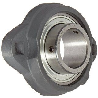 "Hub City FB110URX1 7/16 Flange Block Mounted Bearing, 2 Bolt, Light Duty, Non Relube, Setscrew Locking Collar, Narrow Inner Race, Ductile Housing, 1 7/16"" Bore, 1.44"" Length Through Bore, 3.937"" Mounting Hole Spacing Industrial & Scient"