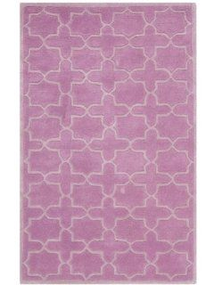 Safavieh CHT937D Chatham Collection Wool Area Rug, 6 Feet by 9 Feet, Pink