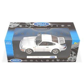 Porsche 911 Turbo (964), white , Model Car, Ready made, Welly 118 Welly Toys & Games