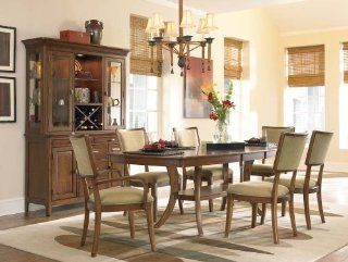 Classic Elegance Trestle Dining Table Set with Klismos Back Chairs by Pennsylvania House Furniture Furniture & Decor