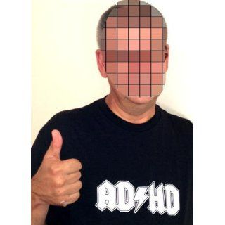 Adhd T shirt #970 (Men's XXX Large Black) Clothing