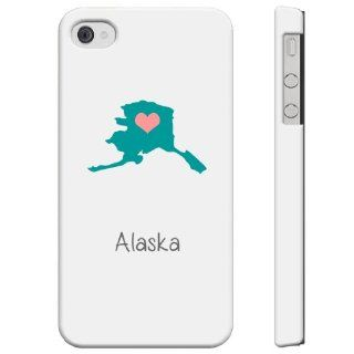 SudysAccessories AK Alaska iPhone 4 Case iPhone 4S Case   SoftShell Full Plastic Direct Printed Graphic Case Cell Phones & Accessories