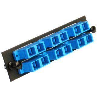 Amphenol Fiber Optics 948 100 2161 Fiber Management System Adapter Pack, Duplex Adapter Type, SC Duplex Adapter Style, Ceramic Sleeve Ferrule Type, Black Panel Paint Color, Blue Adapter Color, 12 Ports Sc Fiber Optic Connectors Industrial & Scientifi