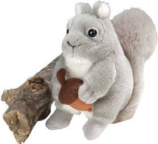 Grey Squirrel Wild Republic Audubon society singing animal plush toy Audobon birds Toys & Games