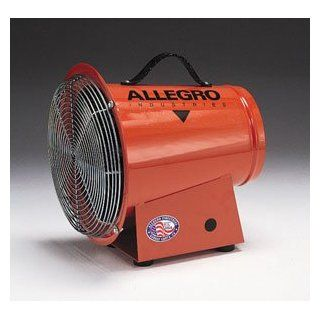 Allegro Industries DC 1/4 Horse Power Axial Blower With 12 Volt DC Electric Motor And 15' Cord With Alligator Clips