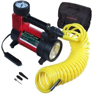 Q Industries HV40A2 SuperFlow Portable Air Compressor with LED Light Automotive