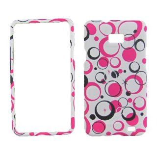 White Pink Pattern For Samsung Galaxy SII Sgh s959g (straight Talk / At&t)rub Cell Phones & Accessories