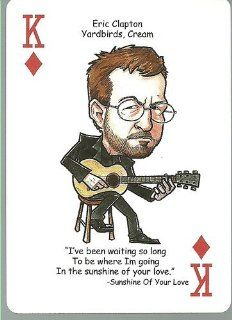 ERIC CLAPTON Yardbirds Cream   ROCK & ROLL Playing Card